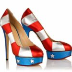 Priscilla in Stars & Stripes by Charlotte Olympia Photo credit www.charlotteolympia.com