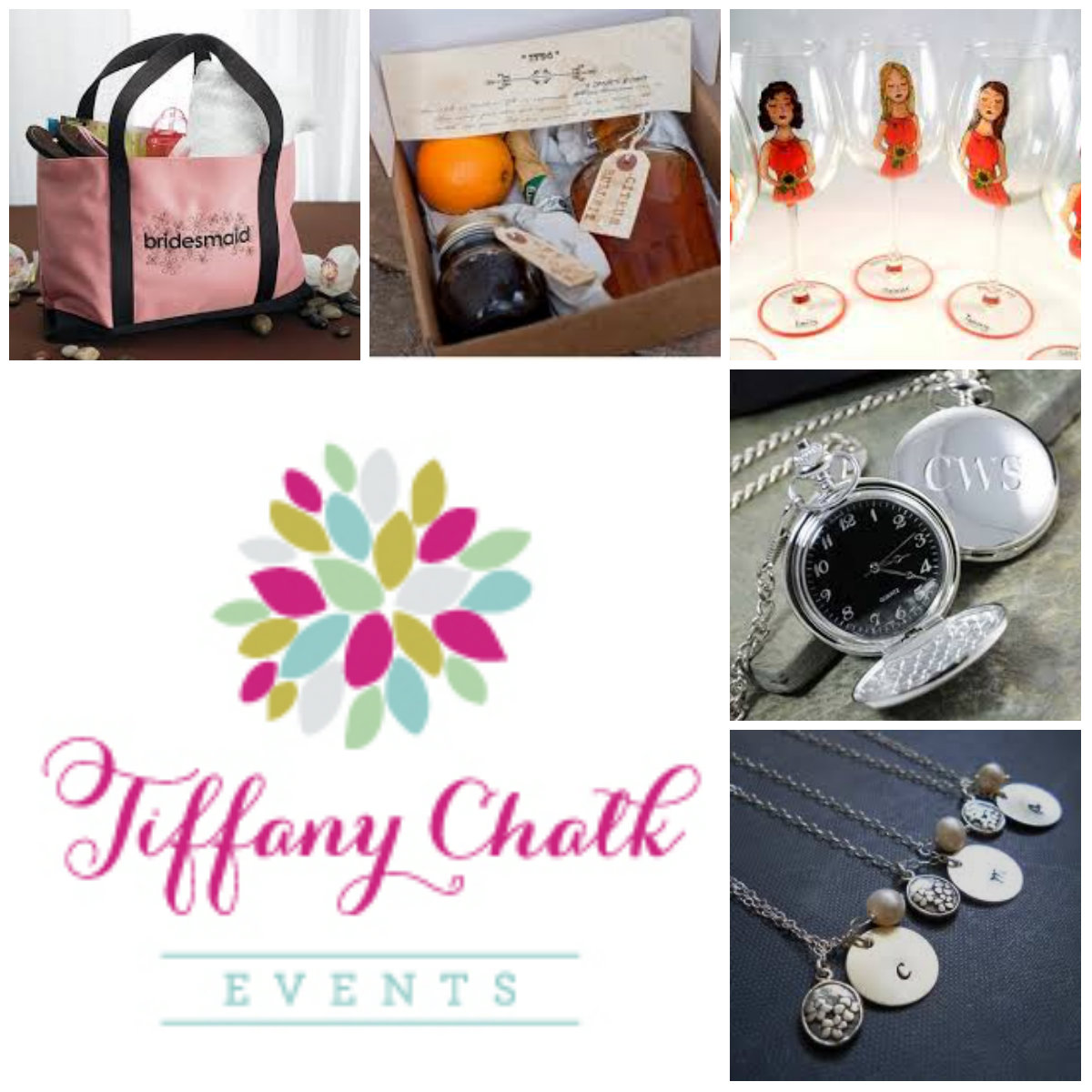 Wedding Wednesday} Gifts for Your Attendants Tiffany Chalk Events