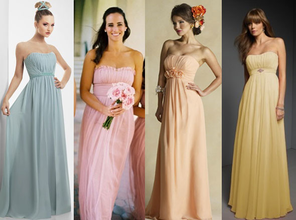 Bridesmaids-dresses,-Wedding-Attire,-Attire,-Wedding-Dresses,-Wedding,-Peach-dress,-yellow-dress,-blue-dress,-pink-dress,-Leaff-Design,-Leaff